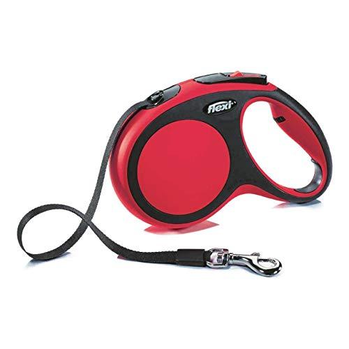 flexi Roll-Leine Vario L Gurt 8 m rot für Hunde bis max. 50 kg