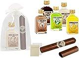 Lote de 15 Botellas de Licores'La Rivera'con Puros de Chocolate en Bolsas de...