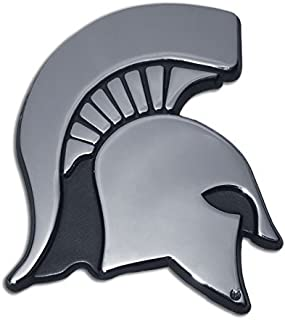 Elektroplate Michigan State University Spartan Head Logo Chrome Plated Premium Metal Car Truck Motorcycle NCAA College Emblem