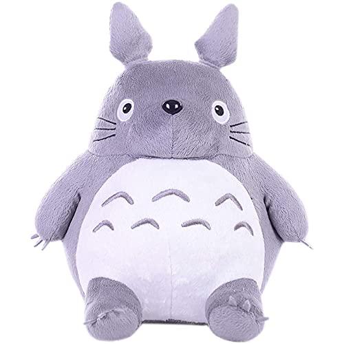 Lindo mi Vecino Totoro de Peluche de Juguete Hayao Miyazaki muñeca de Juguete Suave Almohada cojín para niños niña Regalo decoración del hogar y cumpleaños,30CM