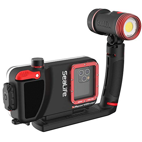 Waterproof Scuba Diving SeaLife Compatible with iPhone Case 2500 Lumen Light Underwater Photography