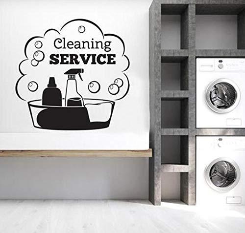 Reinigungsservice-Zeichenshop-Phrasenhaus57x58cmAusgangsdekoration (DIY) Wandtattoos Kinderzimmer