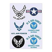 ステッカーセット アーミーエアフォース U.S. ARMY AIR FORCE アーミーエアフォース U.S. ARMY AIR FORCE アーミーエアフォース U.S. ARMY AIR FORCE アーミーエアフォース U.S. ARMY AIR FORCE アーミーエアフォース U.S. ARMY AIR FORCE スーツケースステッカー 防水シール バイクステッカー スーツケースステッ