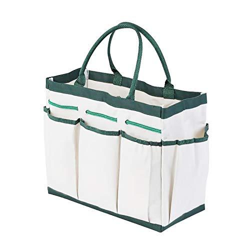 Bolsa de herramientas de jardín multiusos con bolsillos pequeños, reutilizable, Oxford