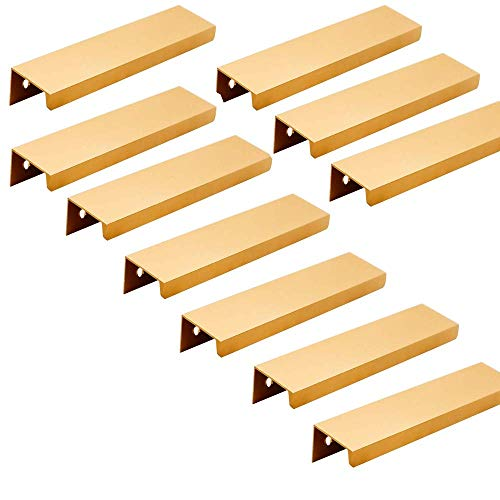 Margueras - 10 tiradores invisibles para muebles (96 mm, color dorado