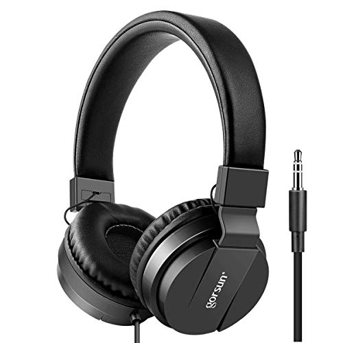 Kids Headphones, Gorsun Lightweight Stereo Foldable Wired Headsets for Kids Adults Adjustable Headband Headset for Smartphones Computer Pad Mp3/4 Earphones