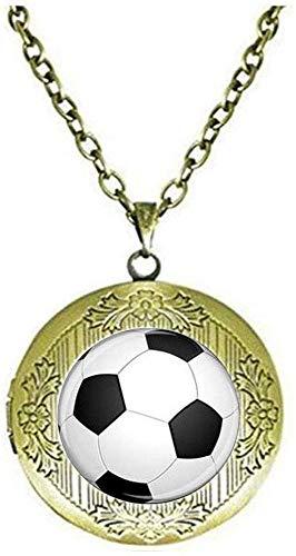 Balón de fútbol medallón collar de fútbol mamá regalo PE profesores regalo de fútbol mamá joyería deporte deporte entrenador joyería regalo de fútbol