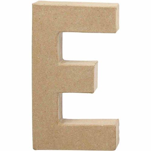 """Creativ - Lettera""""E"""" di cartapesta, 20,5 cm"""