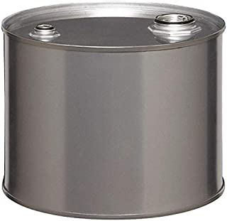 5 gal. Silver 304 Stainless Steel Closed Head Transport Drum