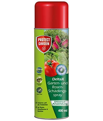 PROTECT GARDEN DeltaX Garten-und Rosen-Schädlingsspray (ehem. Bayer Garten Decis),anwendungsfertiges Spray, gegen Blattläuse und viele weitere Schädlinge, 400 ml