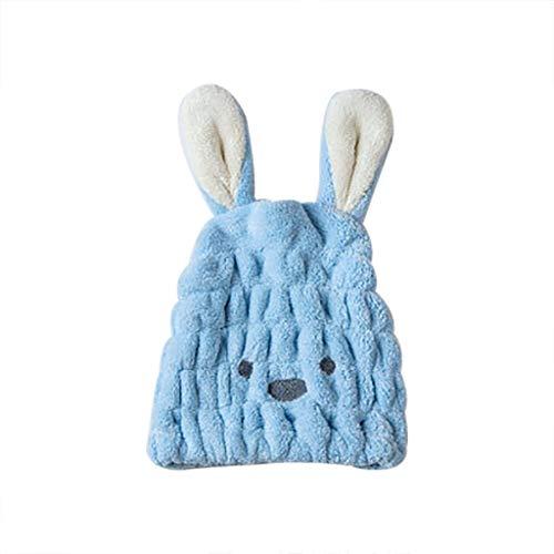 Mooie droge haarhoed, karikatuur-konijnen-microvezel, sneldrogend haar, handdoek, opgerold, badmuts, sneldrogend
