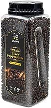 Soeos Premium Whole Black Peppercorns 18oz, (TOP GRADE), Black Peppercorns for Grinder Refill, NON-GMO, KOSHER CERTIFIED, Whole black Peppercorns Bulk, 18oz. (1 Pack)