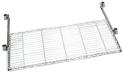 アイリスオーヤマ ラック メタルラック パーツ 棚板 スライドトレー パソコンデスク クリアシート付き 防サビ加工 ポール径25mm 幅91×奥行46×高さ4.5cm 耐荷重8�s ホワイト MR-91PST