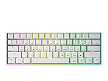 GK61 Mechanical Gaming Keyboard - 61 Keys Multi Color RGB Illuminated LED Backlit Wired Programmable for PC/Mac Gamer  Gateron Optical Red White