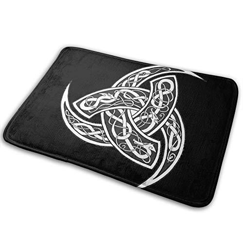 TPOKIM Celtic Norse Viking Nordics WiccanWelcome Mat Entry Way Mats, Non-Slip Washable Bathroom Kitchen Floor Carpet Mat, Indoor/Outdoor Decorative Doormat 15.7 X 23.5 Inch