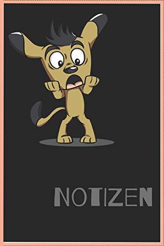 Notizbuch: 120 Seiten / kariert / DIN A5 (6x9) / Hundemotiv #30