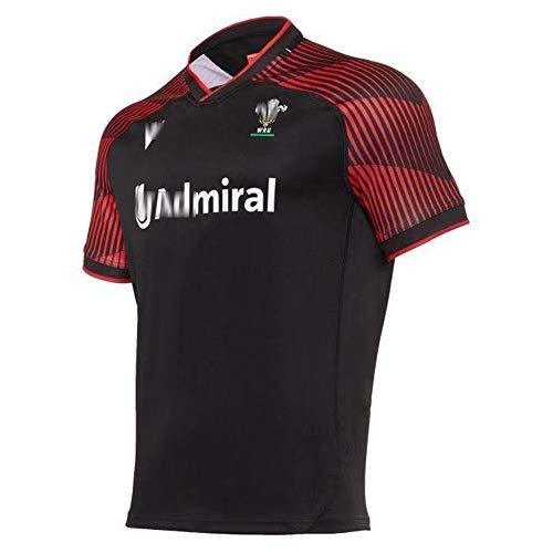 2021 última Camiseta de Rugby de Local y visitante de Gales del Reino Unido para Hombres, Mujeres, niños, Juventud, Camiseta de Rugby de Verano con Logotipos para Regalo de cumpleaños-Away-S