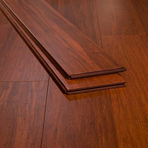 Ambient Bamboo - Bamboo Flooring Sample, Color: Cinnamon, Solid Strand...