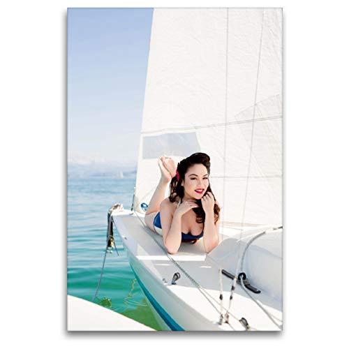 Calvendo Barco Ahoi – Swiss Sailor Babes, 80 x 120 cm