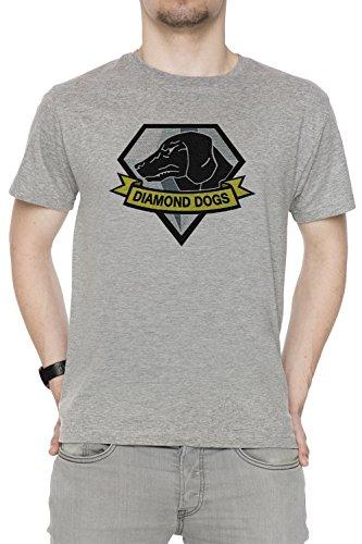 Metal Gear Solid V - Diamond Dogs Hombre Camiseta Cuello Redondo Gris...