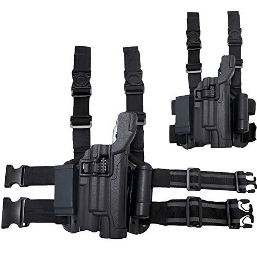 Eortzzpc Funda de Pierna táctica Ajustable, Funda de Pierna de Pistola de caída de Airsoft, Dispositivo de extracción rápida Adaptable, Ideal para Militares, Fuerzas del Orden, Cazadores
