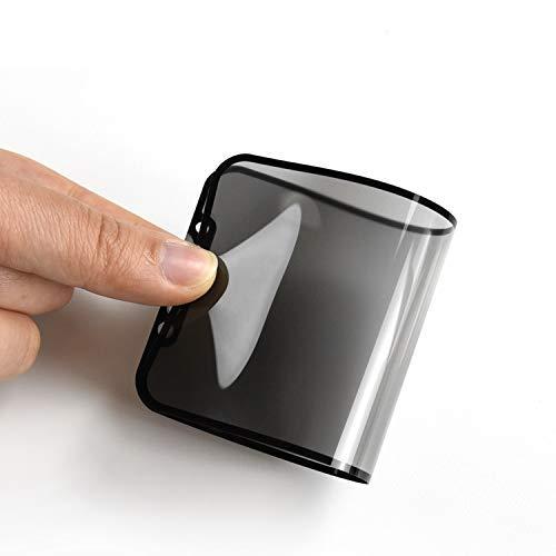 Nzon Compatible for iPhone 11 Pro Max Screen Protector Privacy Edge to Edge Anti-Spy Soft Ceramic Film TPU Screen XS Max 6.5 Inch [Support Fingerprint ID] [Case Friendly] [Full Coverage] - Black