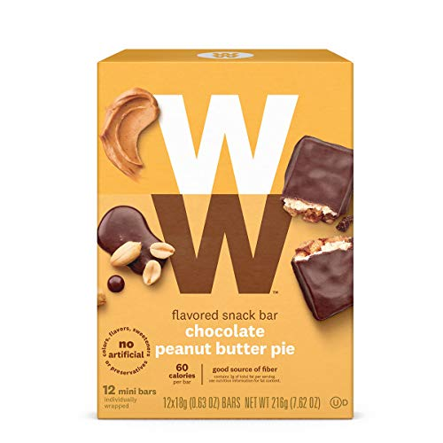 WW Chocolate Peanut Butter Pie Mini Bar - Snack Bar, 2 SmartPoints - 1 Box (12 Count Total) - Weight Watchers Reimagined