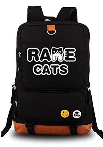 Anime Neko Atsume Cat Backyard Rucksack Daypack Laptop Tasche Umhängetasche College Bag Book Bag Schultasche