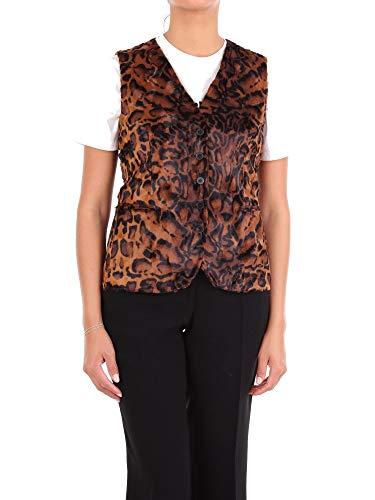 Luxury Fashion | Alberto Biani Dames GG801CO6072BROWN Bruin Modaal Gilets | Seizoen Outlet