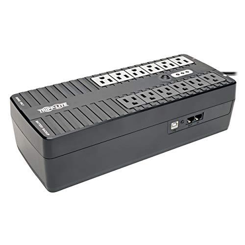 Tripp Lite 900VA UPS Desktop Battery Back Up, 12 Outlet, 480W 120V Standby, Ultra-Compact, USB (INTERNET900U)