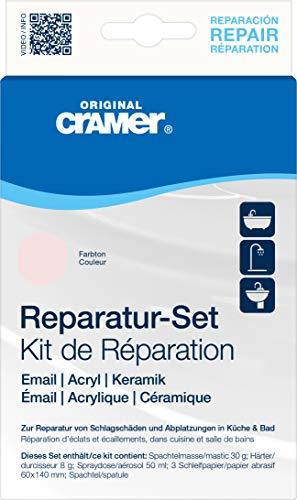 Cramer 16500DE Reparatur-Set Email, Acryl, Keramik, whisper rosa – zur dauerhaften Reparatur von Badewannen, Duschwannen und Waschbecken