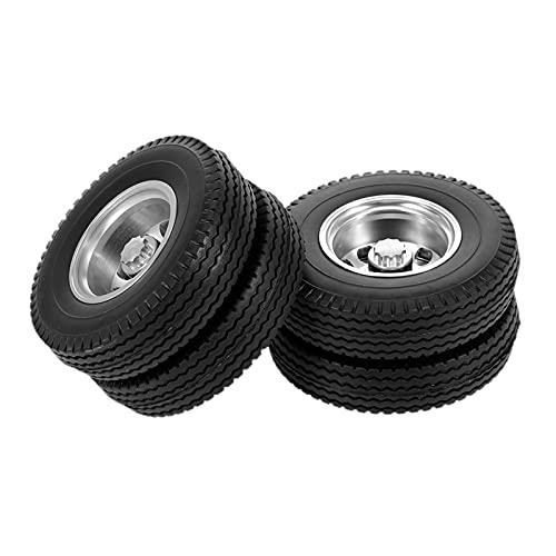 Non-brand Juego de Llantas RC, Juego de 2 Piezas, llanta, aleación de Aluminio, 1/14, Escala, llanta de Coche RC, Control Remoto, Accesorio de Repuesto para - Rear Tyre