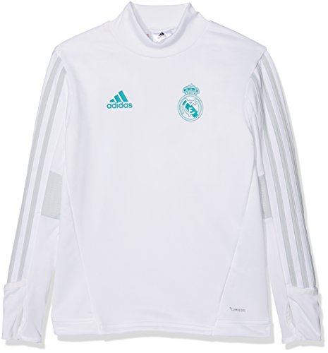 adidas Real Madrid Kinder Trainingspullover weiß/türkis