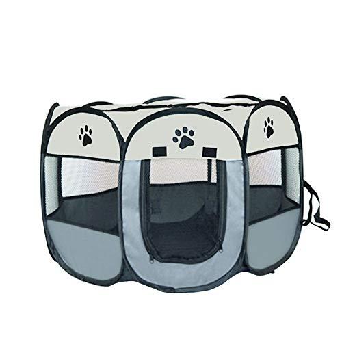 Maifa Parc pour Chien pour Animaux de Compagnie - Tente Pliante pour Animaux de Compagnie Tissu Oxford Portable Étanche Résistant aux Rayures Octogonal Couverture d'ombre Amovible Petits Chiots/Chats