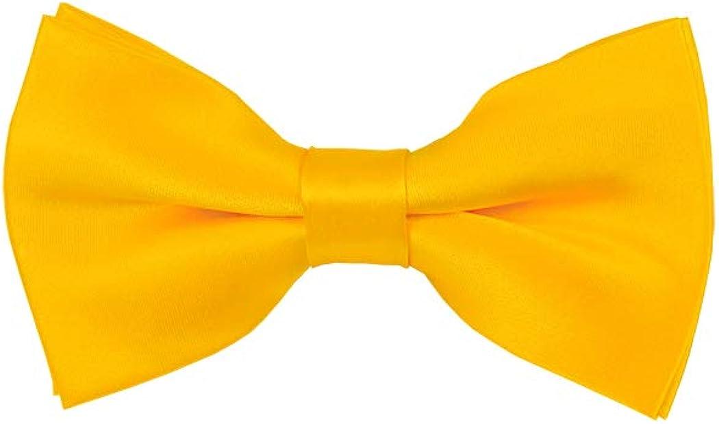 Solid Golden Yellow Men's Pre-Tied Bow Tie