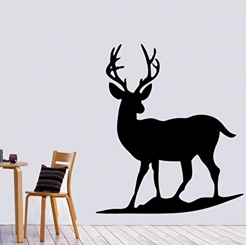 Lonely Deer Wandtattoo Silhouette Schwarz Selbstklebende Tierkinderzimmer Wandaufkleber Home Decor 43cmx38cm