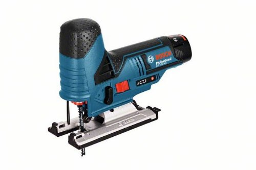 Bosch GST 10,8V Li - Sierra (Ión de litio, 10.8V, 2 Ah, 1.5 kg) Negro, Azul