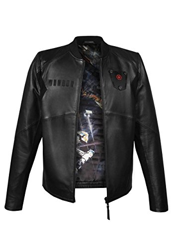 Musterbrand Star Wars Giacca in Pelle Uomo Tie Pilot Limited Edition Nero L