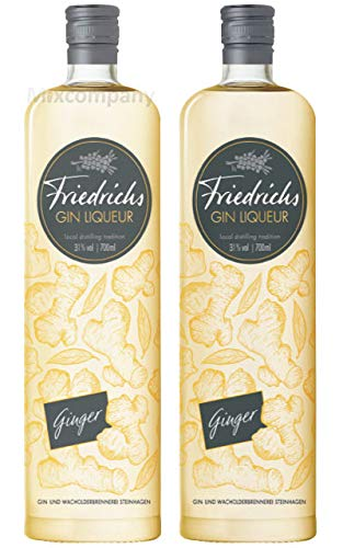 Friedrichs Gin Liqueur Ginger 0,7l 700ml (31% Vol) - 2er Pack- [Enthält Sulfite]