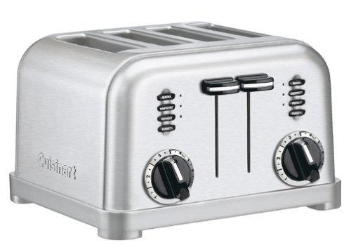 Cuisinart CPT-180FR 4-Slice Metal Classic Toaster (Certified Refurbished), Brushed Stainless