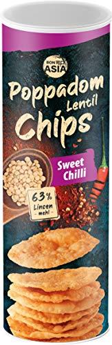 Chips Poppadom Sweet Chili, Elaborados con Harina de Lentejas 70 g