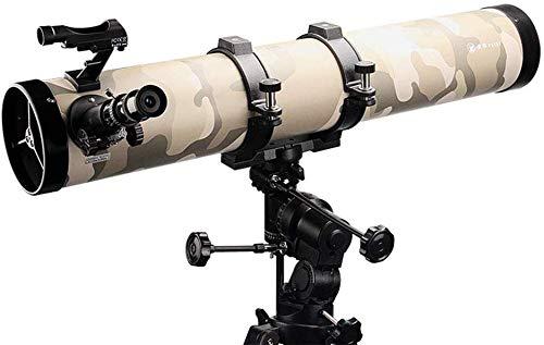 LFDHSF Telescopio Astronómico HD Refracción 150Mm Objetivo de Gran Apertura Superficie Completa Trípode de Aluminio Ajustable