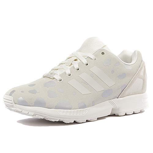 adidas Originals Women\'s Zx Flux w Fashion Sneaker, Off White/Legacy/Metallic Silver Solid 36 2/3