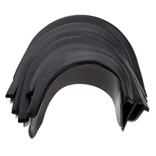 6 piezas de revestimiento de goma para mesa de billar, 4 esquinas, 2 lados, sin agujeros perforad