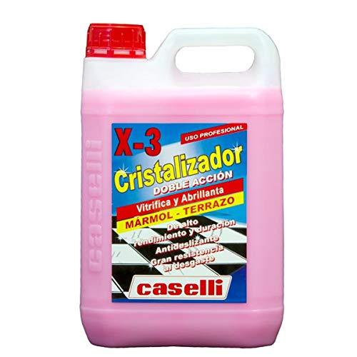 Caselli X3 Cristalizador rosa vitrifica y abrillanta el suelo al mismo tiempo para marmol y terrazo 5L