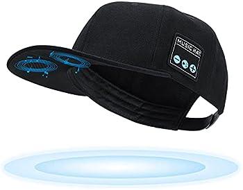 TOUCH TWO Wireless Bluetooth 5.0 Speaker Hat/Cap with  Inbuilt Microphone  Wireless Smart Speaker Hat/Cap for Outdoor/Indoor Sports Best Gift for Men/Women/Boys/Girls  Black