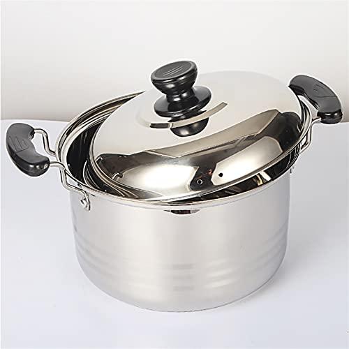 Pentole fumanti Pentola di riserva, vaso di acciaio inossidabile della famiglia con coperchio, (2-10 litri), per 1-10 persone, per stufa a gas/in assi Recipiente di cottura (Size : 2L)
