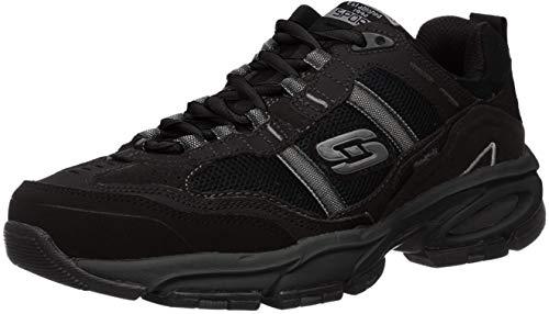 Skechers Sport Men's Vigor 2.0 Trait Memory Foam Sneaker, Black, 12 XW US