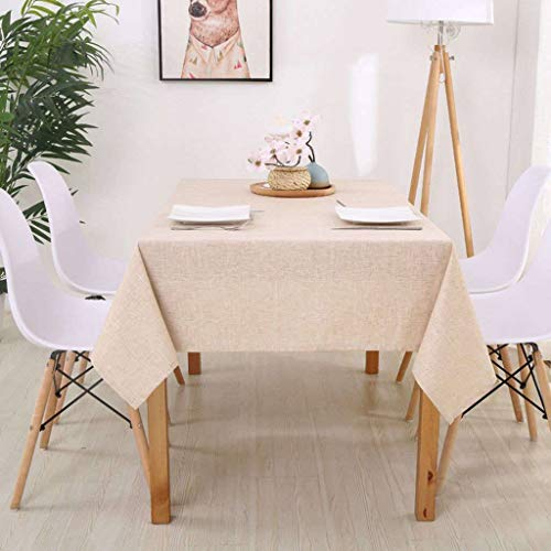 Hot Tafelkleed, Linnen Landelijke Vierkante Tafelkleden Rechthoekige Eettafel Cover Salontafel Thee Woondecoratie Textiel-Beige-110x110cm