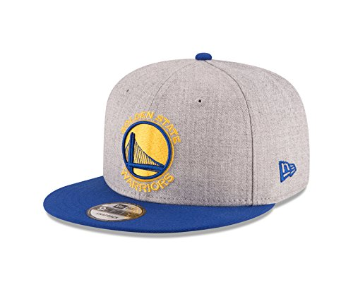 NBA Golden State Warriors Men's 9Fifty 2Tone Heather Snapback Cap, One Size, Heather Gray